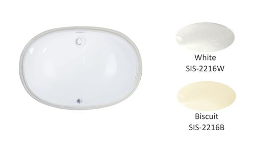 Porcelain Single Bowl Lavatory Sink