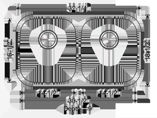Double Bowl Kitchen Sink Dimensions