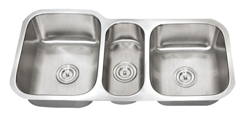 Stainless Steel Triple Bowl Kitchen Sink