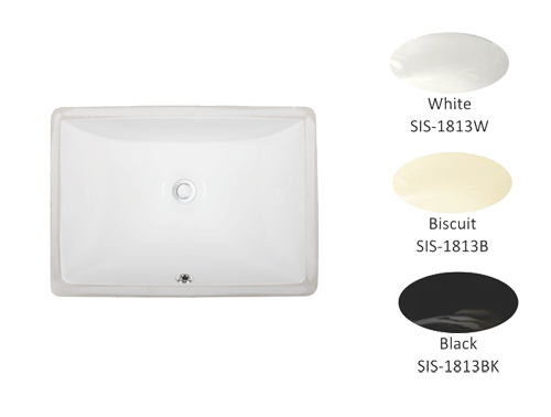 Porcelain Single Bowl Lavatory Sink
